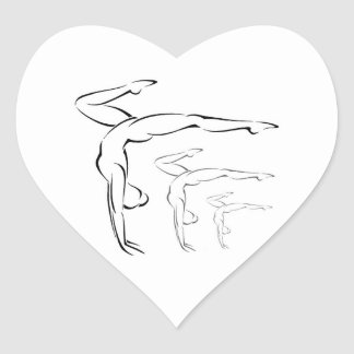 Gymnastics Heart Sticker