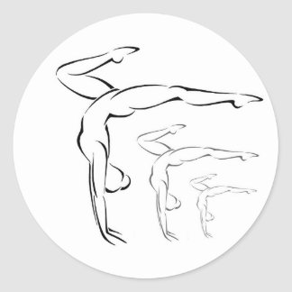 Gymnastics Classic Round Sticker