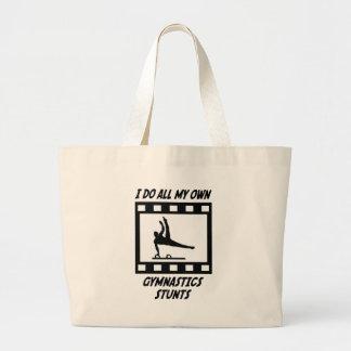 Gymnastics Stunts Tote Bag