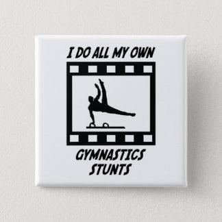 Gymnastics Stunts Button