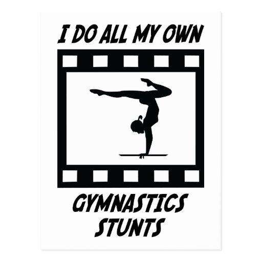 Gymnastics Stunts Post Card