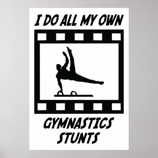Gymnastics Stunts Poster