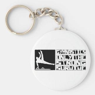 Gymnastics Survive Basic Round Button Keychain