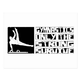 Gymnastics Survive Postcard