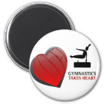 GYMNASTICS TAKES HEART FRIDGE MAGNET
