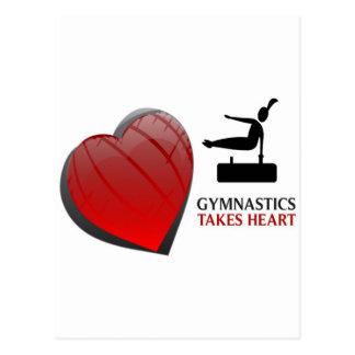GYMNASTICS TAKES HEART POSTCARD
