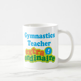 Gymnastics Teacher Extraordinaire Gift Idea Classic White Coffee Mug