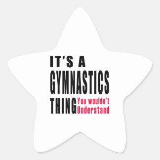 Gymnastics Thing Design Star Sticker