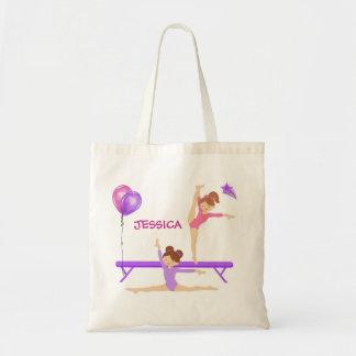 Gymnastics tote bag personalized