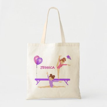 Christmas Themed Gymnastics tote bag personalized