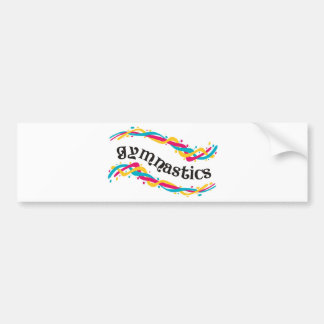 Gymnastics Twists Bumper Sticker
