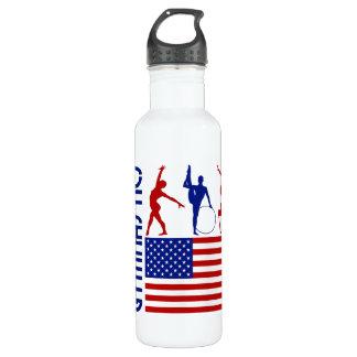 Gymnastics United States Stainless Steel Water Bottle