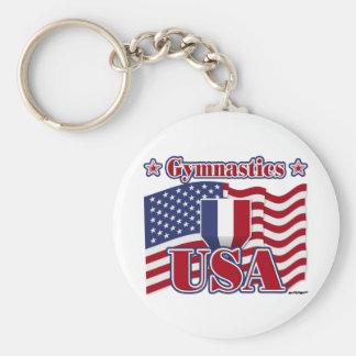 Gymnastics USA Key Chains