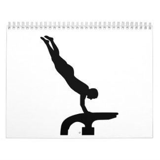 Gymnastics vault calendar