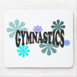 Gymnastics with Blue Flowers Mousepads