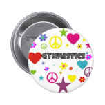 Gymnastics with Mixed Graphics 2 Inch Round Button