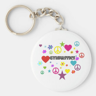 Gymnastics with Mixed Graphics Keychain