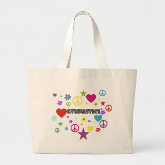 Gymnastics with Mixed Graphics Large Tote Bag