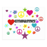 Gymnastics with Mixed Graphics Postcard