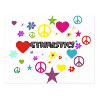 Gymnastics with Mixed Graphics Postcard