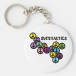 Gymnastics with Peace Sign Fill Key Chain