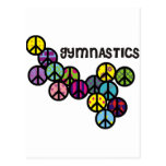 Gymnastics with Peace Sign Fill Post Card