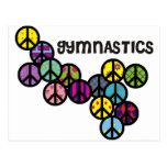 Gymnastics with Peace Sign Fill Postcards