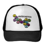 Gymnastics with Peace Sign Fill Trucker Hats