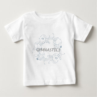 Gymnastics with Swirl Baby T-Shirt