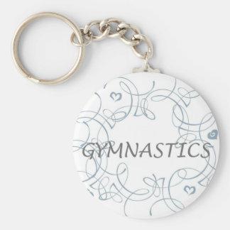 Gymnastics with Swirl Keychain