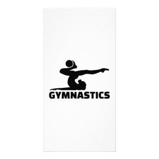 Gymnastics woman card