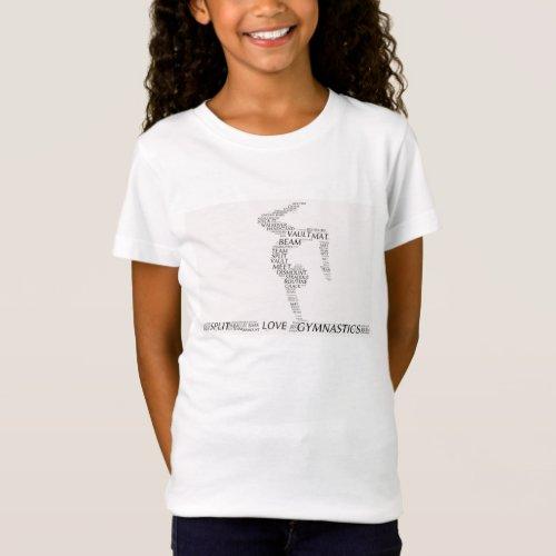 Gymnastics word art tee shirt