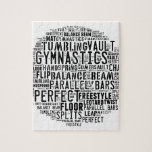"Gymnastics Word Cloud Jigsaw Puzzle<br><div class=""desc"">Gymnastics word cloud tumbling</div>"