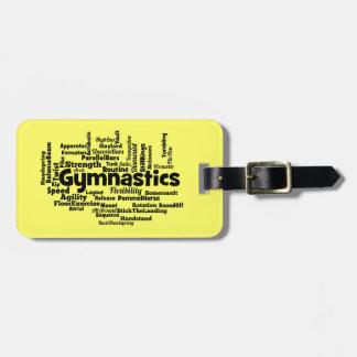 Gymnastics Word Cloud Luggage Tag