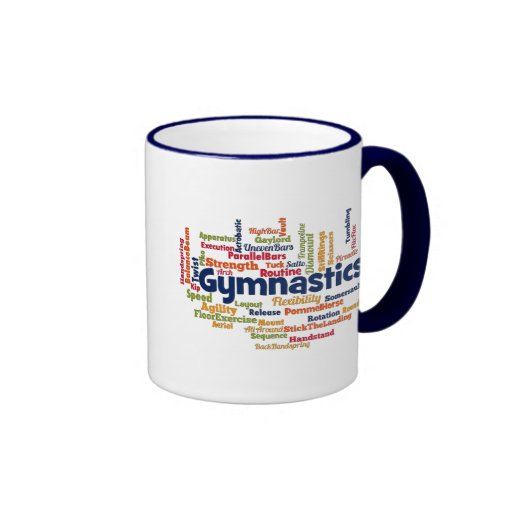 Gymnastics Word Cloud Coffee Mugs
