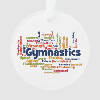 Gymnastics Word Cloud Ornament