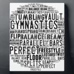 """Gymnastics Word Cloud Plaque<br><div class=""""desc"""">Gymnastics word cloud tumbling</div>"""