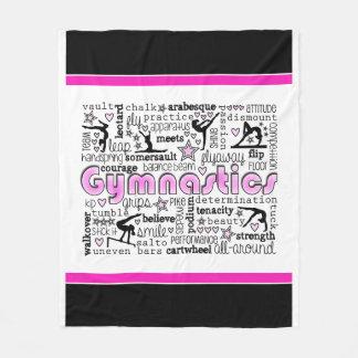 Gymnastics Words 2 Fleece Blanket