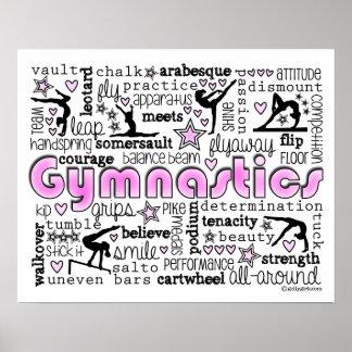 Gymnastics Words 2 Poster