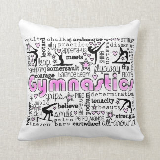 Gymnastics Words 2 Throw Pillow