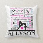 Gymnastics Words Pillow