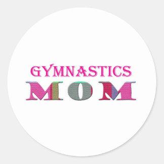 GymnasticsMom Classic Round Sticker