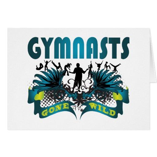 Gymnasts Gone Wild Greeting Cards
