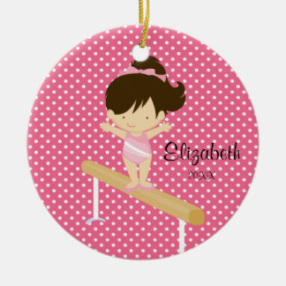 Gymnist girl Gymnastics Christmas Ornament