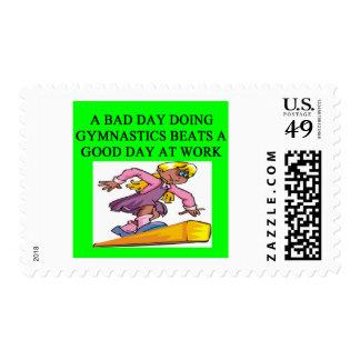 gymnist's delight postage stamp