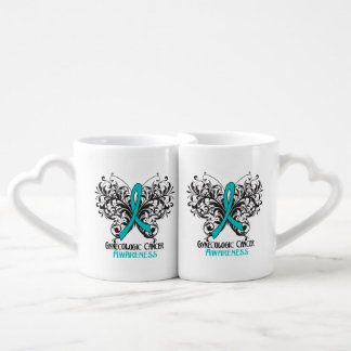 Gynecologic Cancer Awareness Butterfly Lovers Mug Set