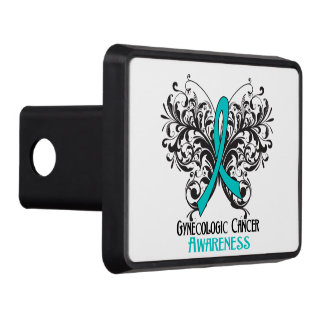 Gynecologic Cancer Awareness Butterfly Tow Hitch Covers