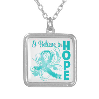 Gynecologic Cancer Awareness I Believe in Hope Necklace