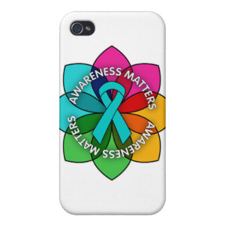 Gynecologic Cancer Awareness Mers Petals iPhone 4/4S Case