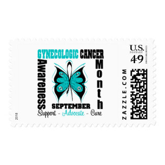 Gynecologic Cancer AWARENESS Month Butterfly Postage Stamps